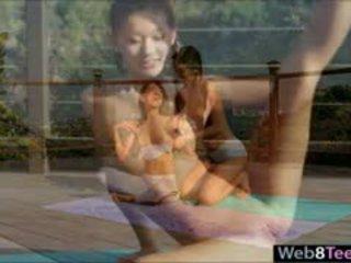 Asian And Latina Beauties Intimate Lesbian Sex Outdoors