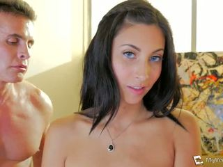 all brunette tube, rated double penetration scene, any first time porno