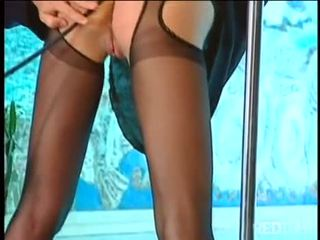 Groupsex orgy with stocking mistress Julie Silver