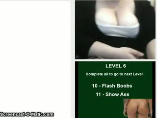 Ellie Flash Boobs Ass Omegle Cam Game08