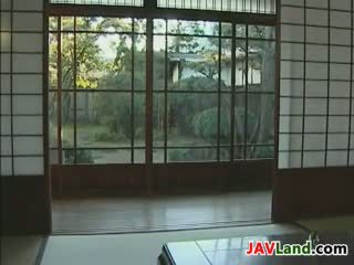 Ung japanska piga och henne gammal basar
