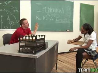 blowjob, ebony, classroom
