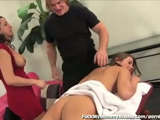 18 Year Old Rides Dick With Her Hot Stepmom