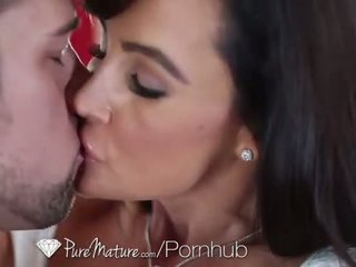 HD - PureMature - Two chicks choke on one big dick