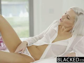 Blacked preppy blond kjæreste kacey jordan cheats med bbc