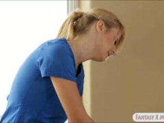 Natalia starr dan jelena jensen massaged dan membuat daripada