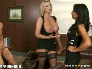 Brazzers - Stepmom and milf fuck young stud