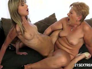 kyssing, tribbing, bestemor
