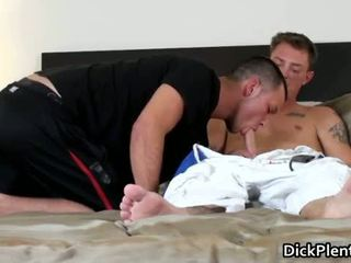 Awesome gay scene with two horny guys