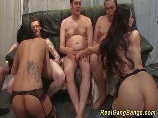 Cute Teens in Real Gangbang Orgy, Free HD Porn 74