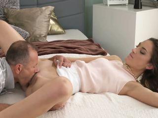 brunette full, oral sex rated, kissing hot