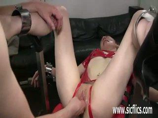Extreme slut brutally fisted in bondage