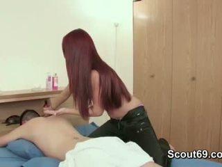 jovem, massagista, adolescente