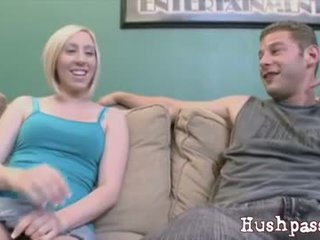 Petite Blonde Teen Jules Creams On A Cock