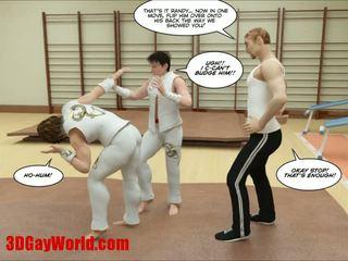 Kung fu guys 3d gay cartoon animated comics