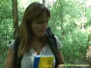 Dutch MILF Fucked in the Woods, Free Mature Porn Video 18