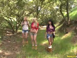 Georgia jones i jej 2 piękne girlfriends pieprzyć