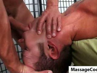 Blowing Oily Cock on Massagecocks