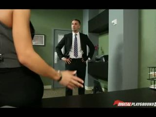 Huge boobs Madison Ivy banged in office