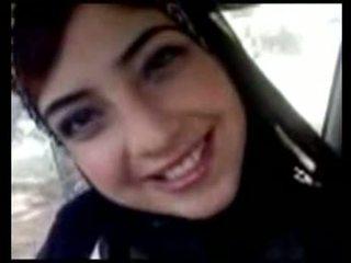 Cute Arabian Teen Show Tits In Car