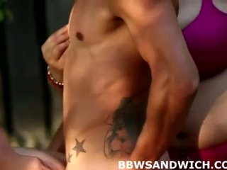 Fat sluts Marta and Jitka in threesome femdom