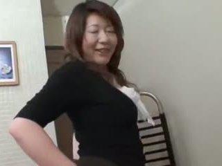 일본의, 뚱보, 섹스 토이, 섹스하고 싶은 중년 여성