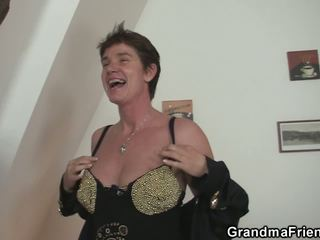 Granma Swallows 2 Cocks after Photosession: Free HD Porn bd