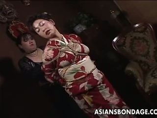 cute, big boobs, tied up, oriental