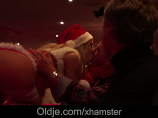 Orgy for Christmas Teen Nesty Gangbang Fucked by 8 Old