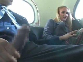 Dandy 171 blond student eşikli heleý, ýalaňaç erkek fun on awtobus 1