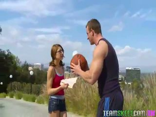 Nerdy Lexi Bloom gets fucked hard by her basketbal