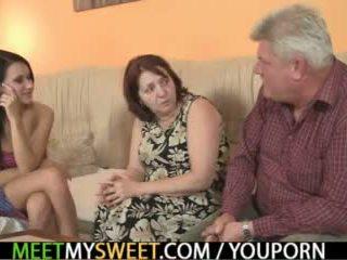 mature, threesome teen, threesome mom, mature 3some