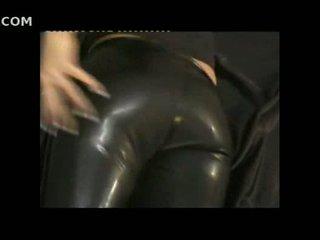 เซ็กซี่ หญิง ใน ถุงน่องรัดๆ หนัง pants