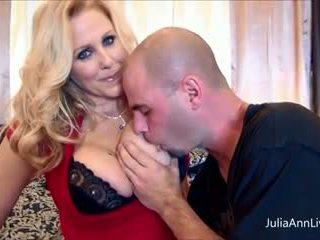 Busty Julia Ann Fucks Her Husband & His Friend Big Cocks!