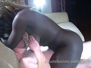 shaved pussy, cock sucking, interracial, black girl
