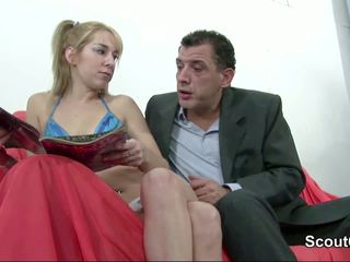 Dad seduce german NOT Setp-daughter to fuck when mom not