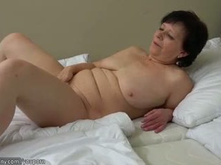 tits, old, masturbate, granny