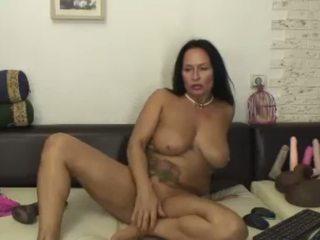 Hot Horny 50 Year Old Latina MILF Rides Dildo Part 2.