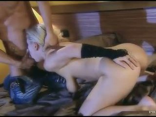 Sexy blonde Alexa Bold gets her mouth stuffed with a stiff cock and loves it