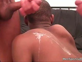 Sexy ghetto thug Trey takes cumshot