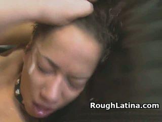 Collared and leashed latina nunggang