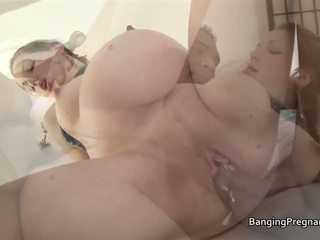 Heavily Pregnant Brunette Fucked by a Black Man: HD Porn 36