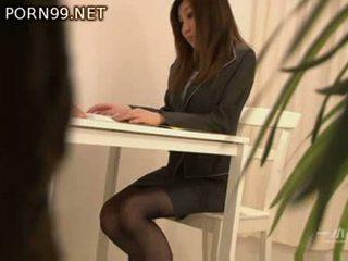 japanese, blowjob, pantyhose, clothed