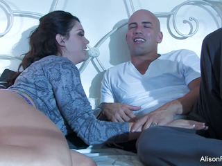 Beautiful Alison Tyler gets banged in bed