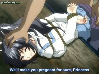Tied Up Anime Nymphet In Stockings Gets Laid