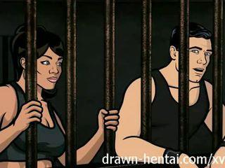 Archer הנטאי - בית סוהר סקס עם lana