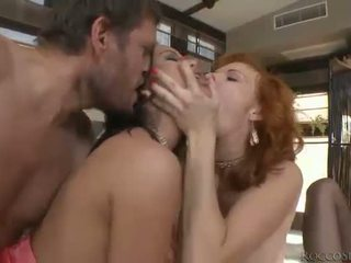 Whore Abbie Cat double ripped in orgy