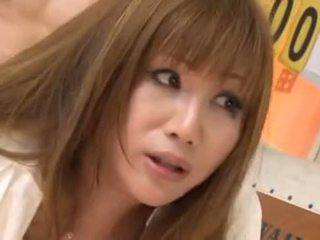 japanese, big tits, cumshot, gangbang