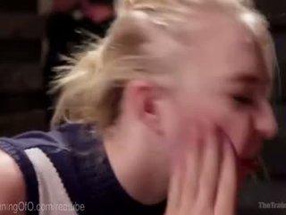 Collared blondi pillua pounding