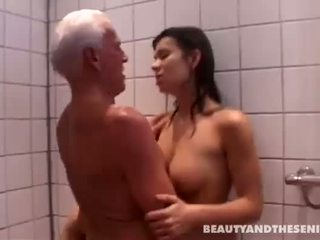 ass licking, shower, see old farts film